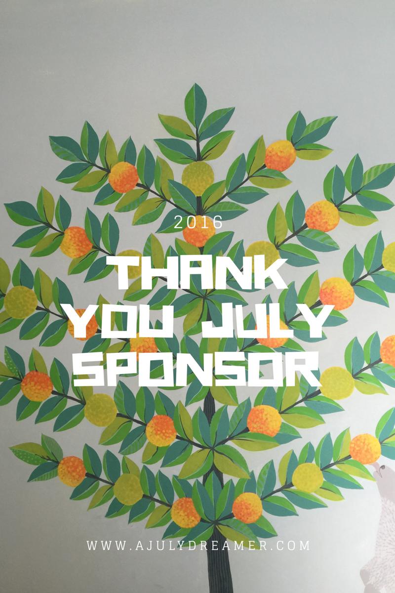 July 2016 sponsors