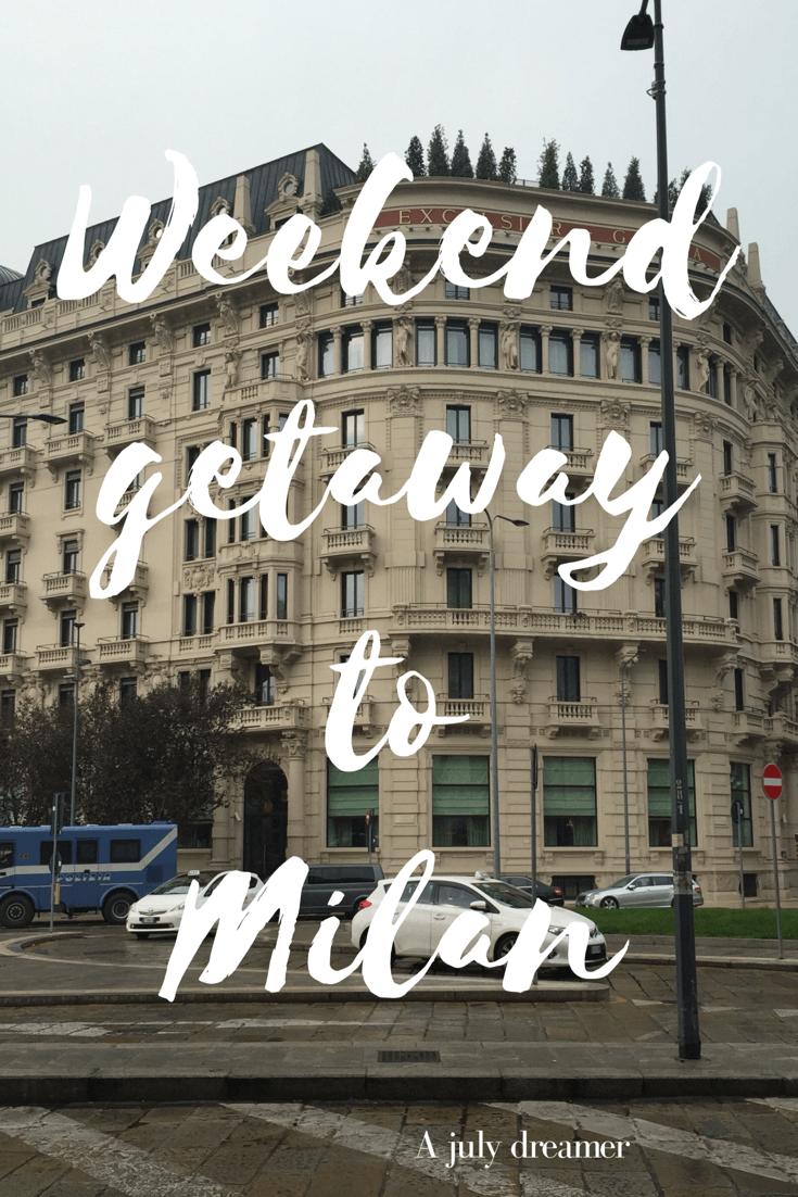 Milan ~ Excilsior hotel
