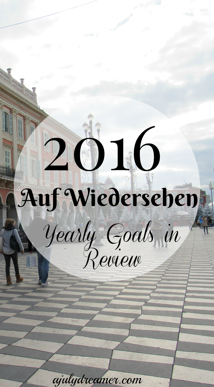 2016 yearly goals in review
