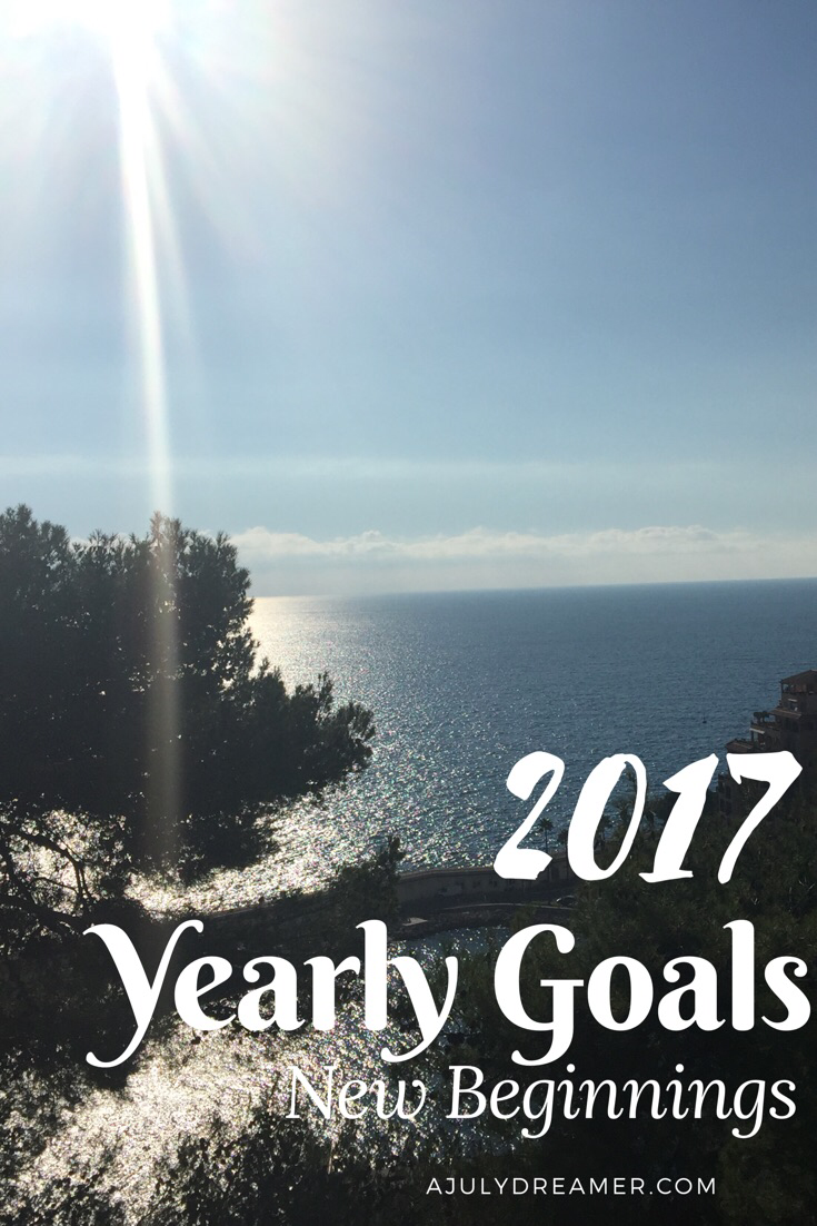 2017 yearly goals