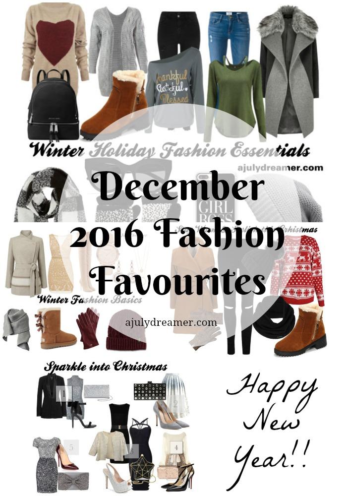 December 2016 Fashion Favourites