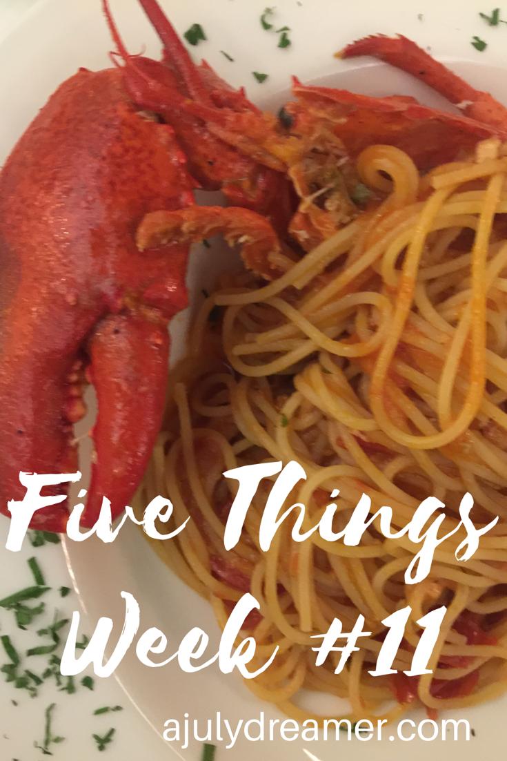Five Things week 11