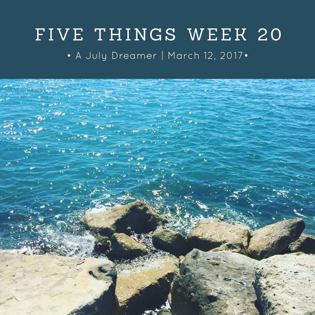 five things week 20