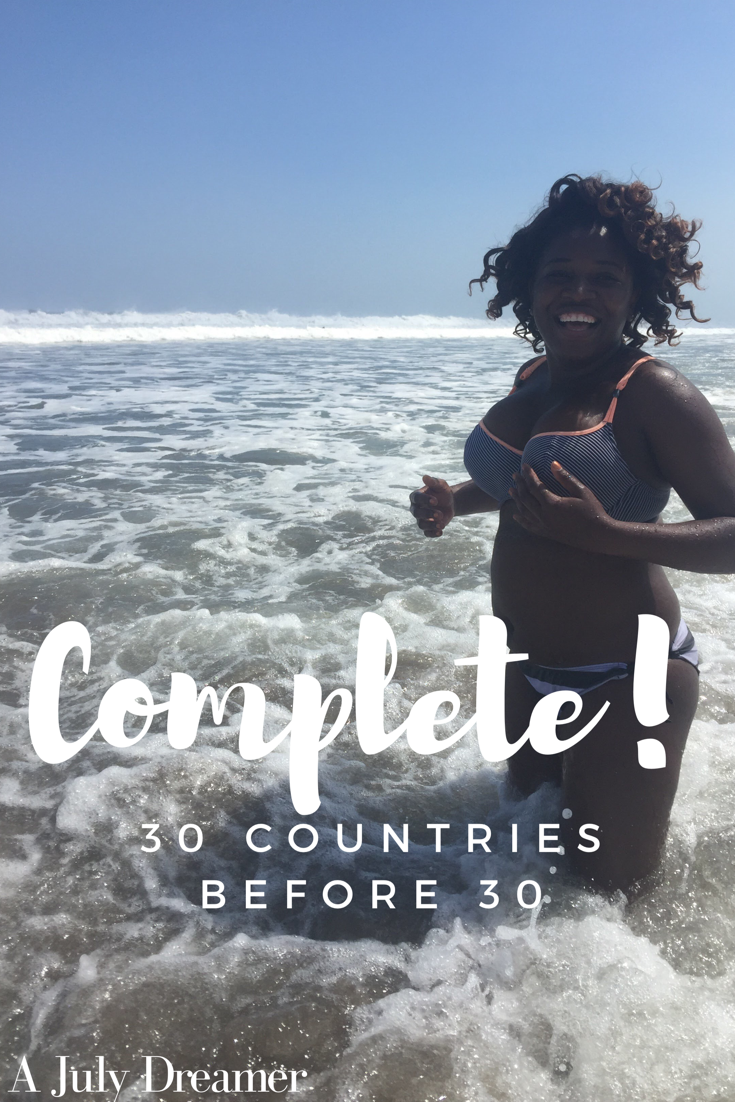 30 Countries Before 30 Complete! – The Travel Challenge