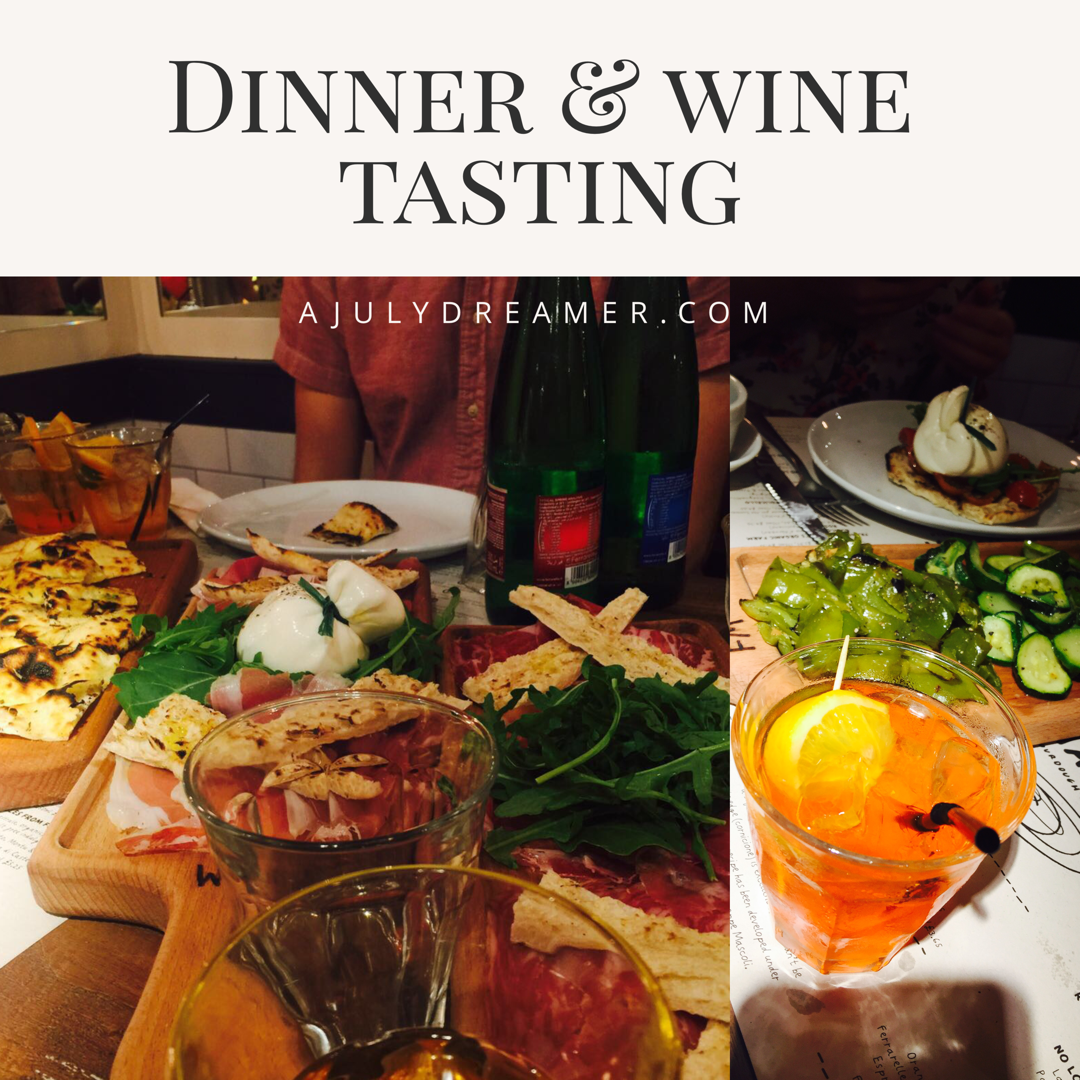 Dinner and wine tasting at Franco MancaOxford