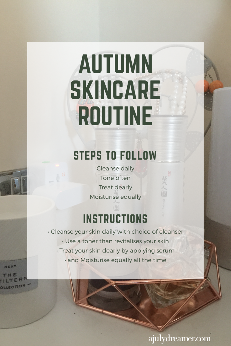 Autumn Morning Skincare Routine