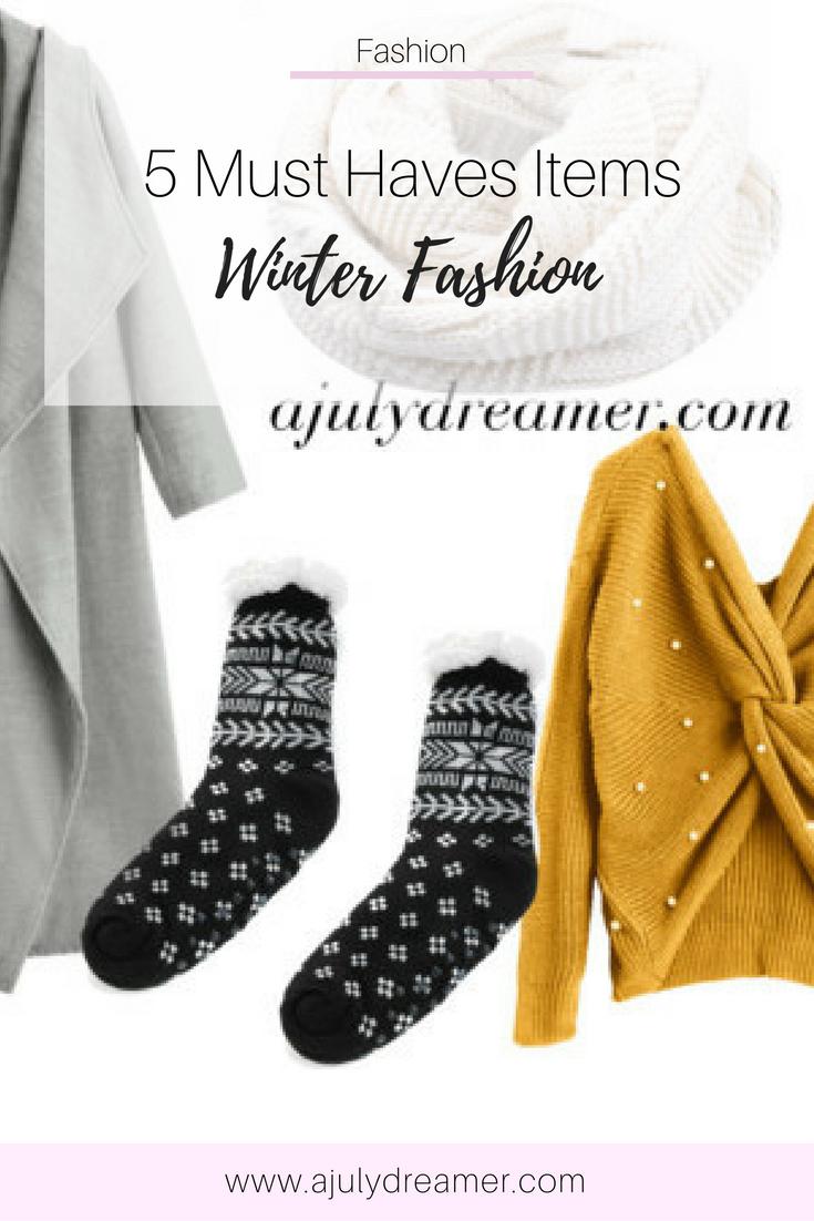 Winter Fashion items