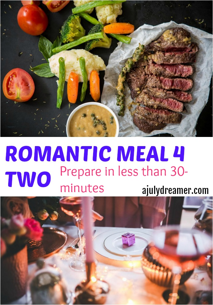 Preparing a romantic meal for two in less than 30 minutes
