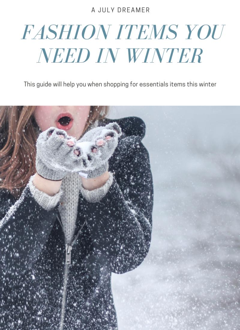 3 Beautiful Fashion items you need every Winter