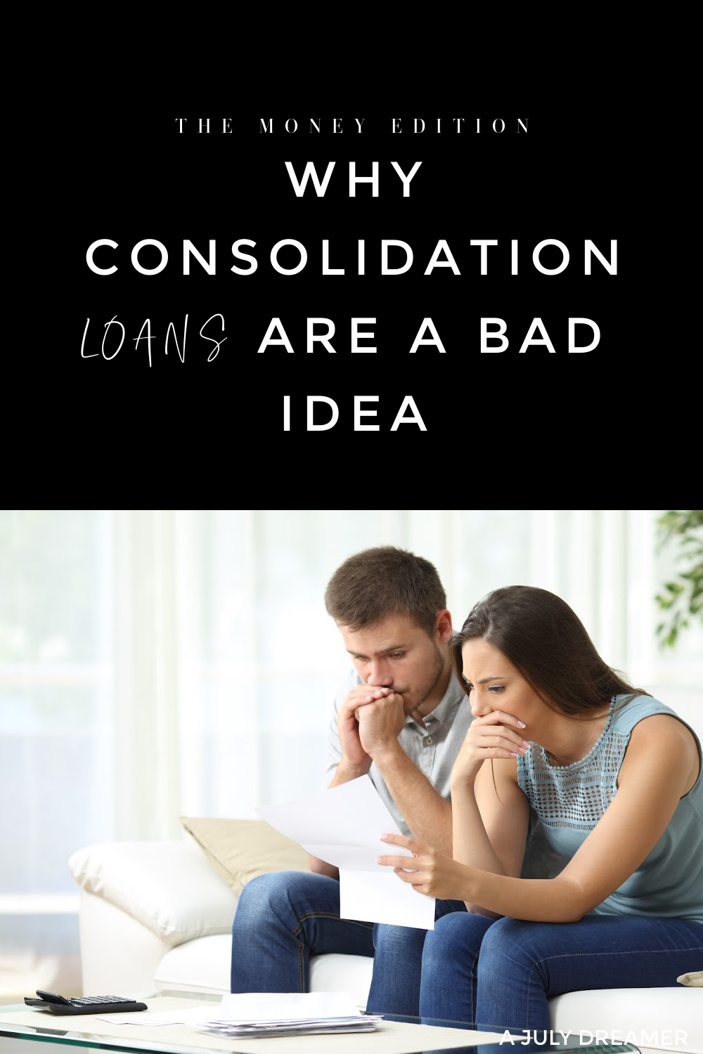 Is consolidating your debt ever a good idea? In my personal opinion it is not, its just another way to keep you in debt for longer than you need to be. When I finished university, I finished debt that had almost nothing to do with my studies but I was fortunate enough to get a job before I even graduated.