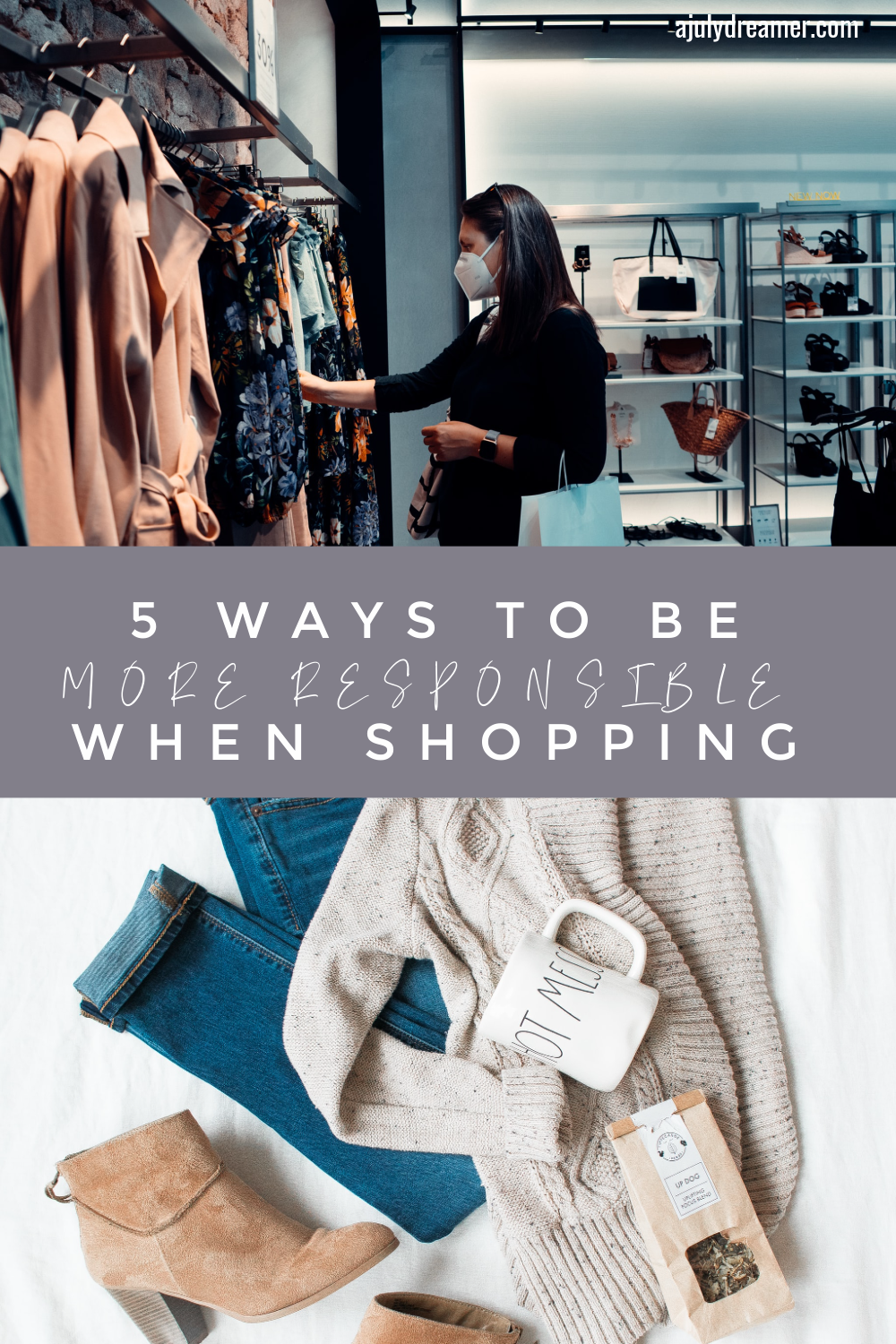 With shops gearing to open soon, I thought I share 5 ways to be more responsible when shopping, whether you are shopping for back to school or lounge wear. I mean, who doesn't love shopping for clothes, shoes, and accessories?